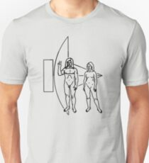 Wecome come in peace - Hippy message to alien civilisations T-Shirt