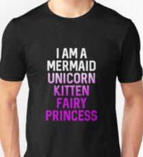 Best Seller: I Am A Mermaid Unicorn Kitten Fairy Princess Unisex T-Shirt