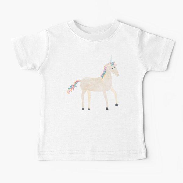 Unicorn Pattern on Pastel Purple Baby T-Shirt