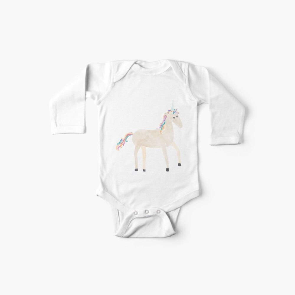 Unicorn Pattern on Pastel Purple Baby One-Piece