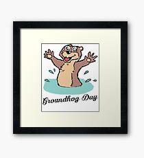 Happy Groundhog Day Canada Framed Print