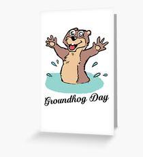 Happy Groundhog Day Canada Greeting Card