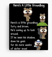 Happy Groundhog Day In Canada Canvas Print
