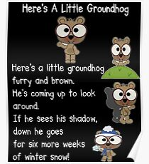 Happy Groundhog Day In Canada Poster