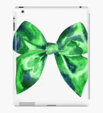 Watercolor green bright bow  iPad Case/Skin