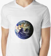 Earth Globe Men's V-Neck T-Shirt