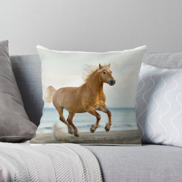 Haflinger horse Throw Pillow