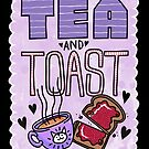 Tea and Toast - Purple Version by blacklilypie