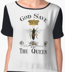 God Save the Queen Bee Chiffon Top