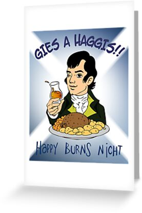 Happy burns night greeting cards by musicbandcanada redbubble happy burns night by musicbandcanada m4hsunfo