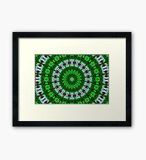 Psychedelic Green Mandala Framed Print