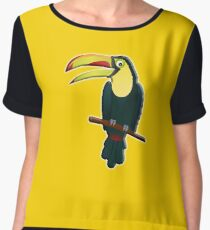 Toucan, Tropical, Bird, Pet, fun, funny Chiffon Top