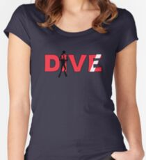 Scuba Diver Dive Flag Underwater Women's Fitted Scoop T-Shirt