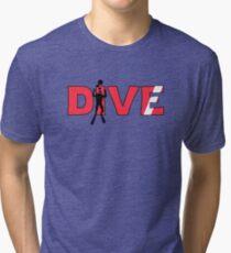 Scuba Diver Dive Flag Underwater Tri-blend T-Shirt