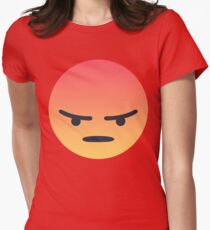 Angry 'Angery' React Face Womens Fitted T-Shirt