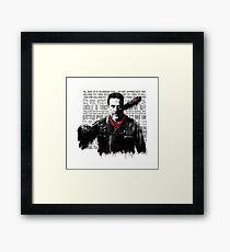 The Walking Dead - Negan quotes Framed Print