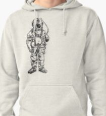 Antique Old Fashioned Ancient Scuba Diver Dry Suit Pullover Hoodie
