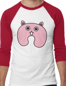 Cute Pink Fluffy Bunny Men's Baseball ¾ T-Shirt