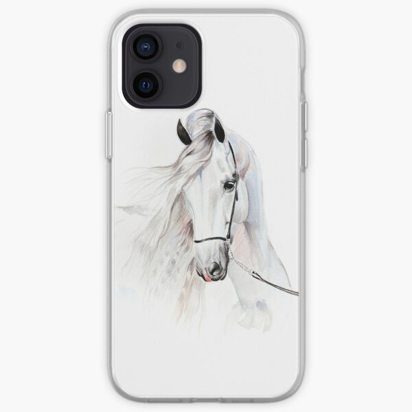 Andalusian horse watercolor painting iPhone Soft Case