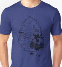 Seascape White Pine Unisex T-Shirt