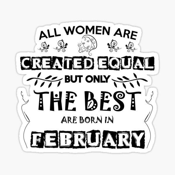 Woman Birthday February Sticker