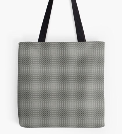 Dots  & Squares in Gray Tote Bag