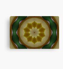 Psychedelic Yellow & Green Mandala Canvas Print
