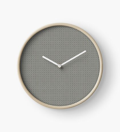 Dots  & Squares in Gray Clock