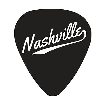 Nashville written on a guitar pick by whereables