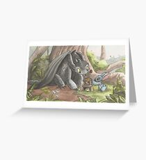 Toothless and Stitch Build a Froghouse Greeting Card