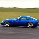 Blue racing car TVR by Martyn Franklin