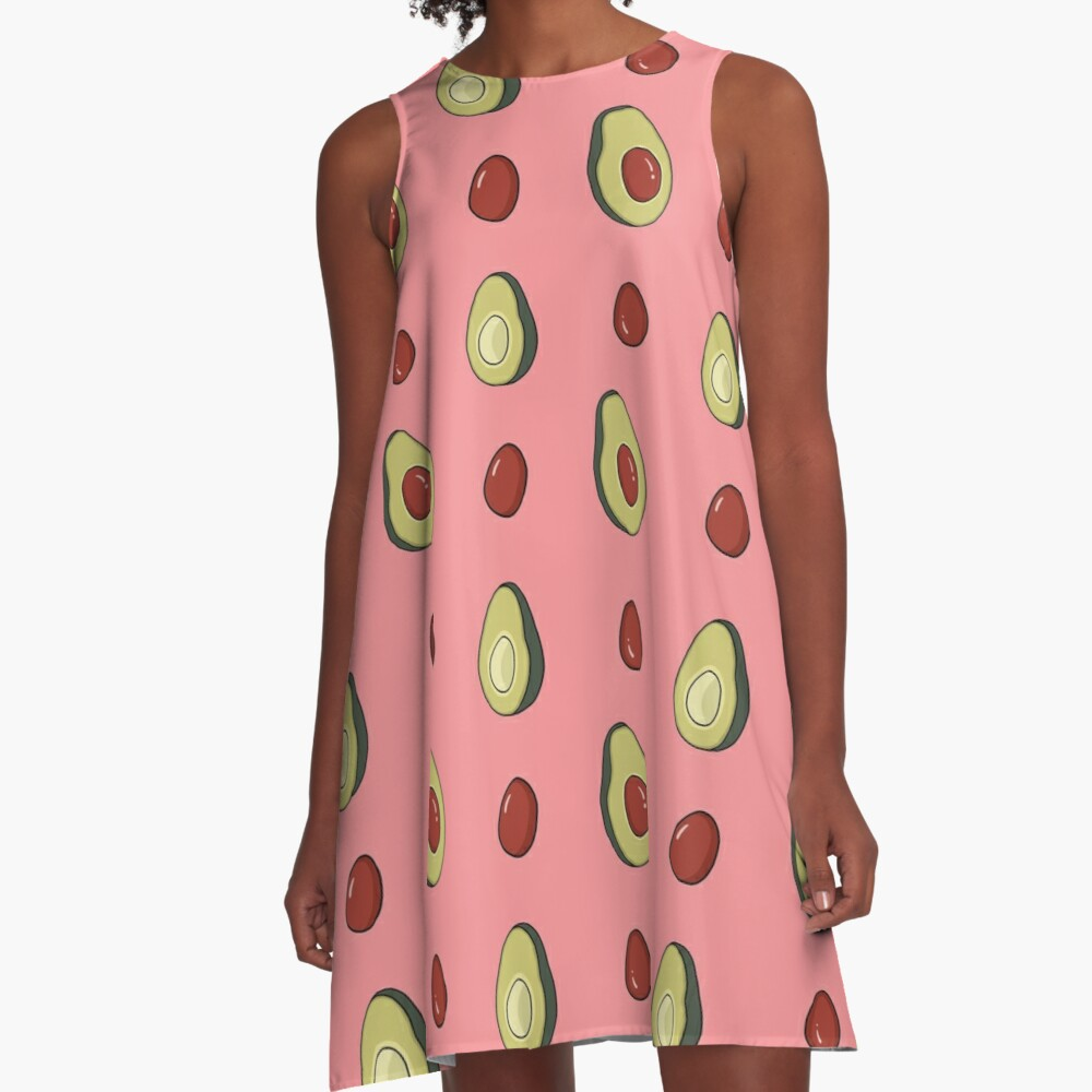 Avocado Fun  A-Line Dress