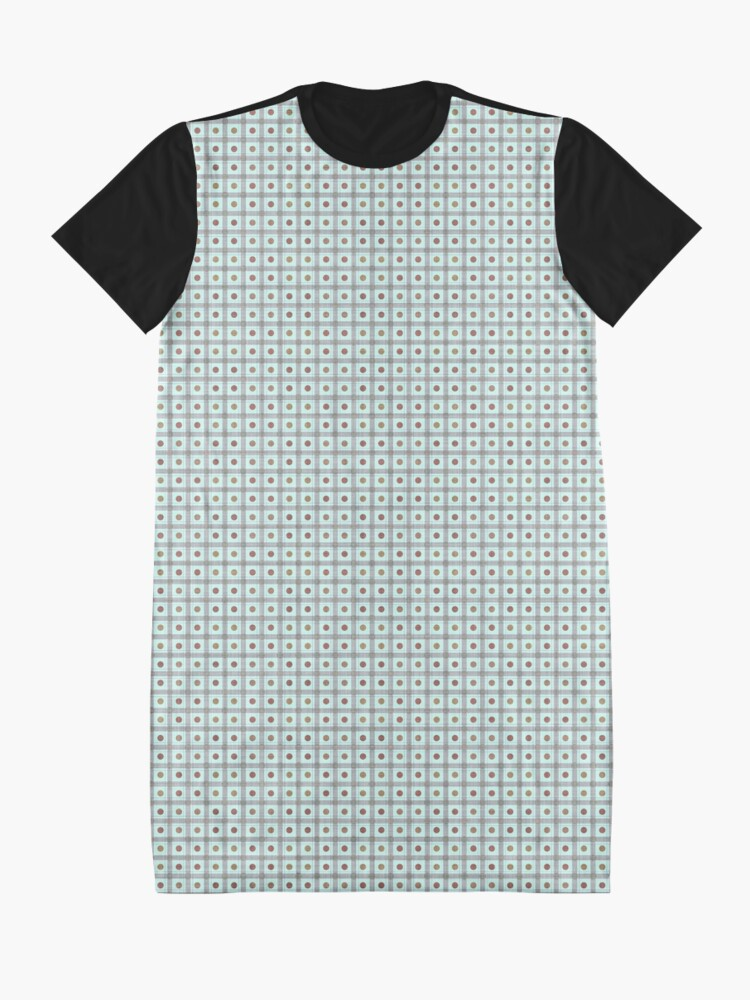 Alternate view of Squares & Dots in Light Blue by Julie Everhart Graphic T-Shirt Dress
