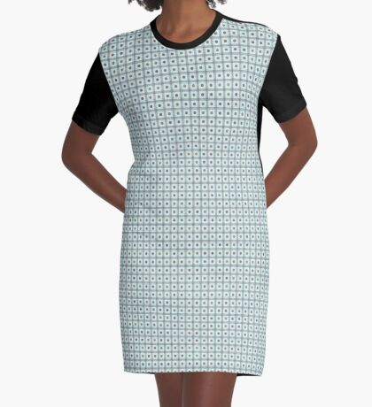 Squares & Dots in Light Blue by Julie Everhart Graphic T-Shirt Dress