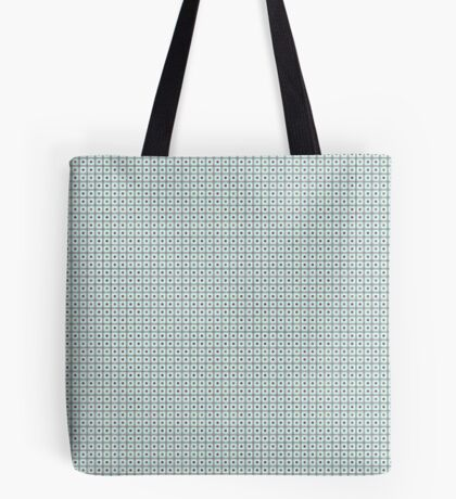 Squares & Dots in Light Blue by Julie Everhart Tote Bag