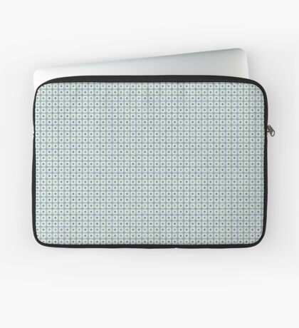 Squares & Dots in Light Blue by Julie Everhart Laptop Sleeve