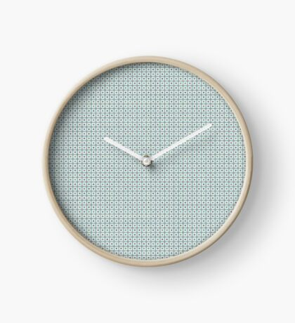 Squares & Dots in Light Blue by Julie Everhart Clock