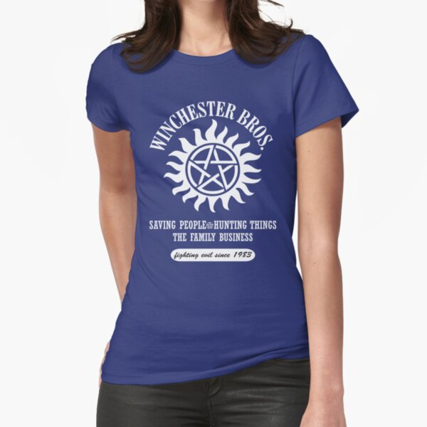 SUPERNATURAL - WINCHESTER BROTHERS SINCE 1983 Fitted T-Shirt