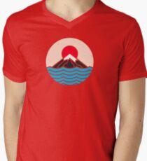 Fuji T-Shirt mit V-Ausschnitt für Männer