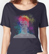 Bowie painting Women's Relaxed Fit T-Shirt