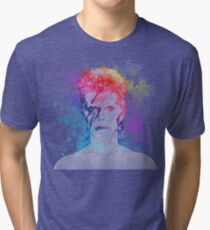 Bowie painting Tri-blend T-Shirt
