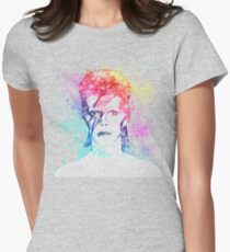 Bowie painting Womens Fitted T-Shirt