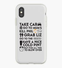 SHAUN OF THE DEAD THE PLAN iPhone Case