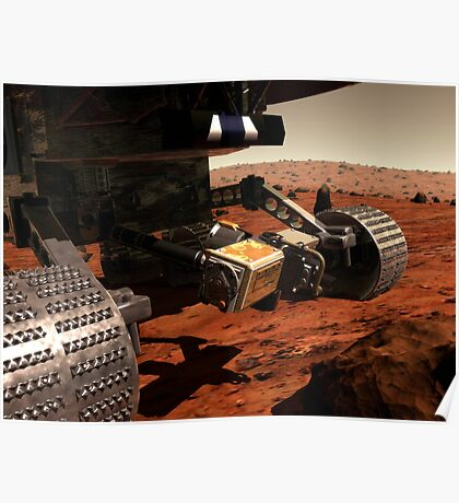 Eine Nahansicht des Arms auf NASAs Mars 2003 Rover. Poster