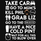 SHAUN OF THE DEAD THE PLAN TO TO LIST by thischarmingfan