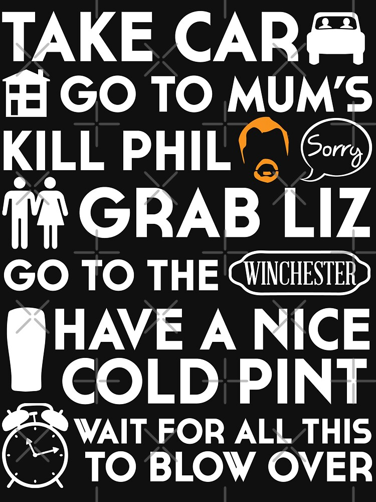 SHAUN OF THE DEAD THE PLAN TO TO LIST | Unisex T-Shirt