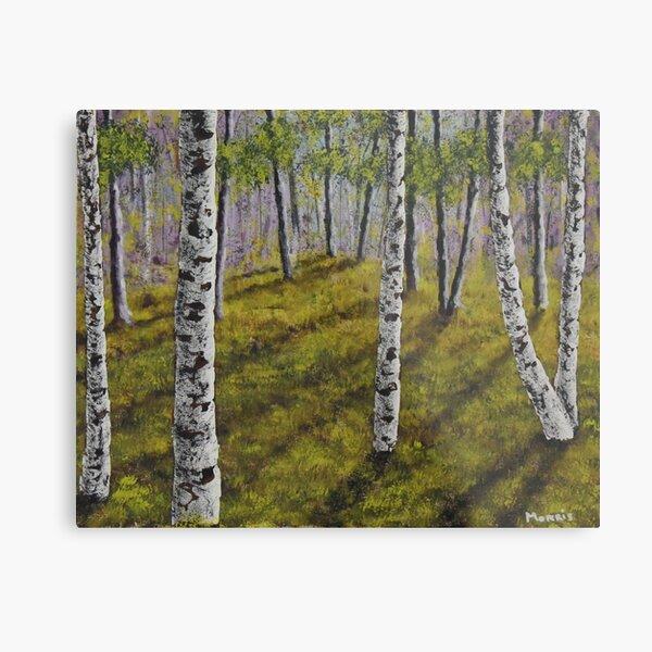 The Birch Grove Metal Print