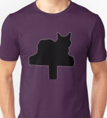 Cat on Scratching Post Silhouette  T-Shirt