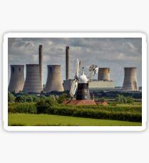 Leverton Windmill and West Burton Power Station Sticker