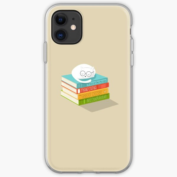 The Cat Loves Books iPhone Soft Case